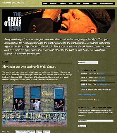 The Chris O'Leary Band Website