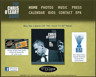 The Chris O'Leary Band Homepage - Flash website