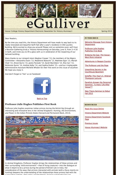 Vassar College History Department eNewsletter